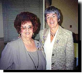 Carolyn with Judy Riggs of the Alzheimer's organization in Washington DC